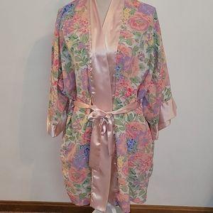 Victoria's Secret vintage gold label floral robe